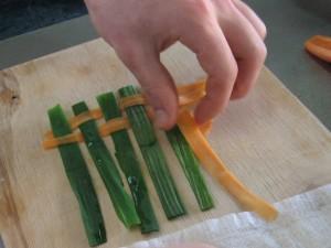 Лук-порей и морковь