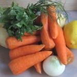 морковный суп-пюре с сальсой
