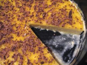 Ледяной персиковый торт